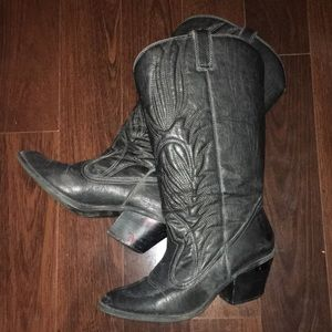 Shoes - Black Cowgirl Boots